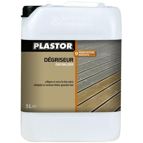 Nettoyant dégriseur pour terrasse Plastor : ravivez et retrouvez la couleur d'origine de vos bois de terrasse