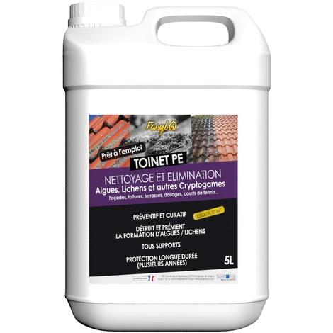 Nettoyant et traitement des toitures et facade toinet pe bidon 5 l