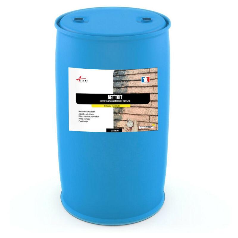 Nettoyant toiture tout support - NET'TOIT ACTION ULTRA RAPIDE Transparent - 200 L - Arcane Industries