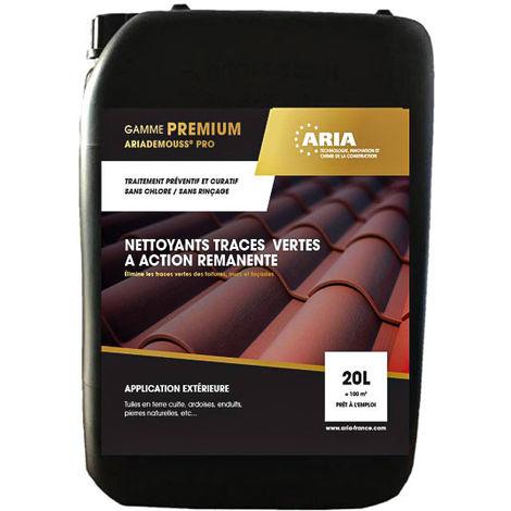 Nettoyant préventif et curatif anti traces vertes pour toitures et murs prêt à l'emploi : Aria Demouss Pro (20L)
