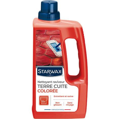 """main image of """"Nettoyant raviveur coloré pour tomettes et terres cuites 1L STARWAX"""""""