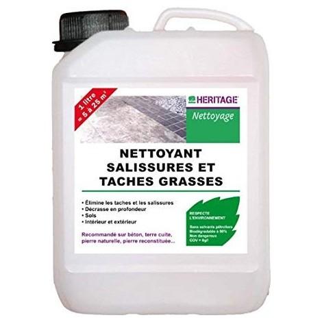 Nettoyant salissures et taches grasses pour sols intérieur / extérieur en bidon de 2l (DLC 07/2017) GUARD HERITAGE 000250
