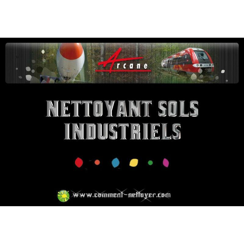 Nettoyant sol industriel sale garage atelier Auto laveuse graisses huiles Nettoyant Rénovateur - ARCANE INDUSTRIES - Transparente - Liquide - 20 L