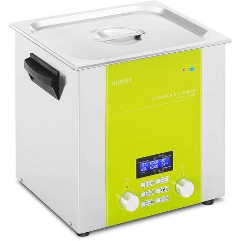 Nettoyeur à ultrasons Bain Ultrason Bac Sonicateur Cuve Ulsonix 10L Puiss. Ultrason 320W Inox