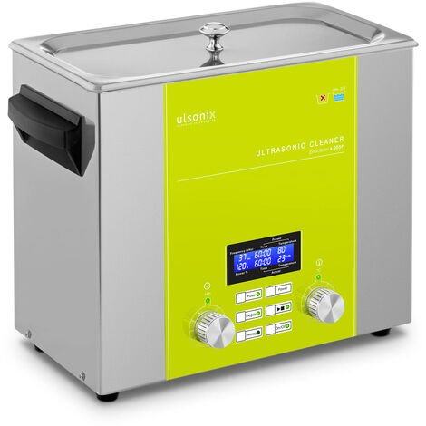 Nettoyeur à ultrasons Bain Ultrason Bac Sonicateur Cuve Ulsonix 6L Puiss. Ultrason 240W Inox