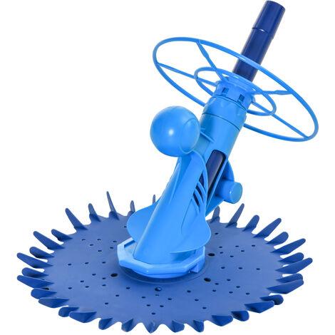 """main image of """"Nettoyeur aspirateur piscine - robot de piscine hydraulique automatique - branchement pompe 370-1100 W max. - ABS TPU bleu"""""""