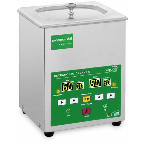 Nettoyeur bac machine ultrason professionnel 2 litres 60 watts