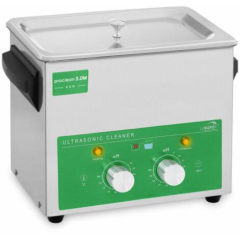 Nettoyeur bac machine ultrason professionnel 3 litres 80 watts