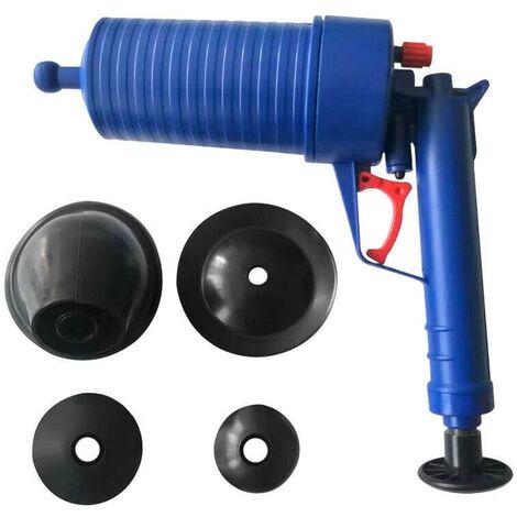 Nettoyeur de drains professionnel rose Pompe de cure-pipe à air comprimé Air comprimé 4 bars de nettoyage des tuyaux