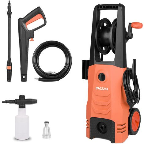 Nettoyeur haute pression - 165 Bar Électrique/Très Puissant - 2000W Control- Livré avec kit d'accessoires complet Orange 510 L / h
