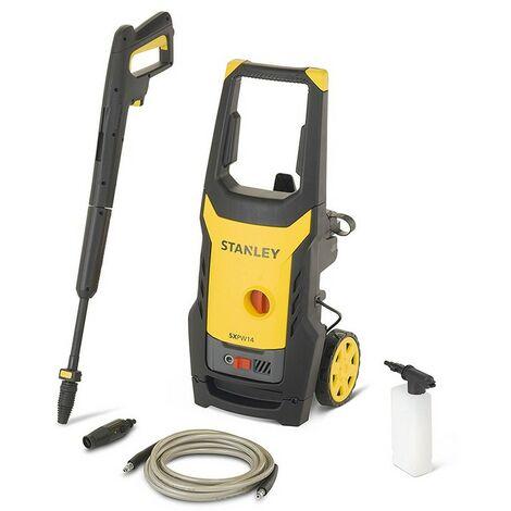 Nettoyeur haute pression STANLEY 1400W Laveur haute pression 110 bars tuyau pression 5m accessoires lavage inclus - Jaune