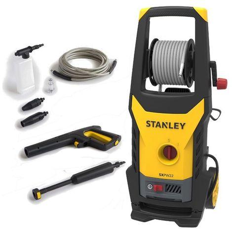 Nettoyeur haute pression Stanley SXPW 22E eau froide, 2200 W, 150 bars de pression, débit max 440 L/h, tension 230V-50 / 60Hz.