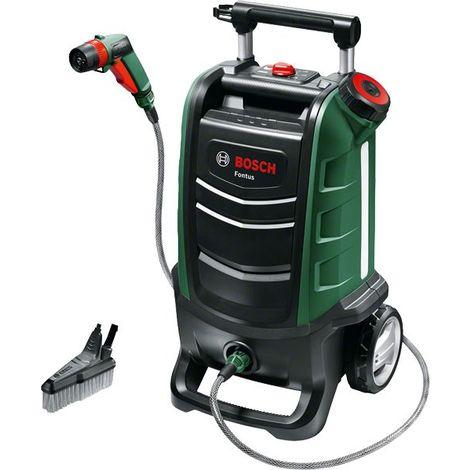 Nettoyeur pour extérieur sans-fil Bosh - Fontus (Livrée sans batterie 18V ni chargeur, 15 bar, réservoir de 15L, emballage carton)