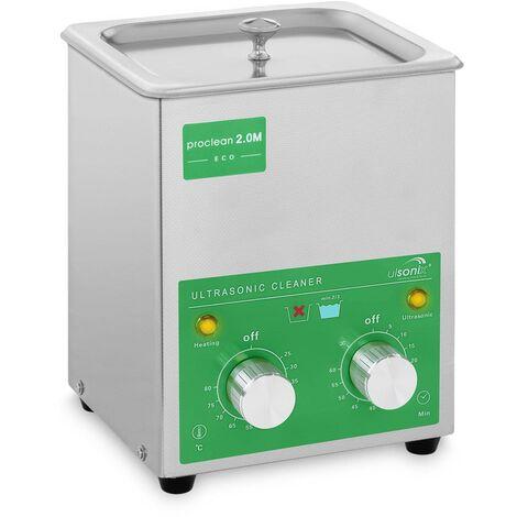 Nettoyeur ultrason 2 litres 60W Basic Eco Minuterie 0-60min Ulsonix