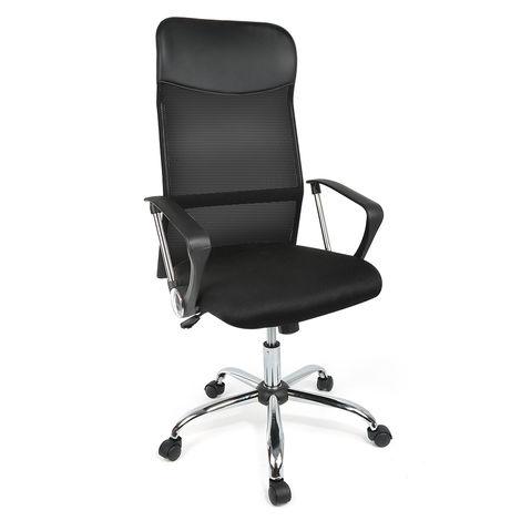Netzrücken Bürostuhl, Computer Stuhl, Hohe Rückenlehne mit Kopfstütze, mit Armlehne, Höhenverstellbar (122~130cm)