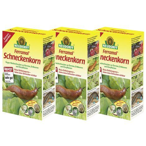 NEUDORFF® Ferramol® Schneckenkorn 3er Set = 3 x 1 kg