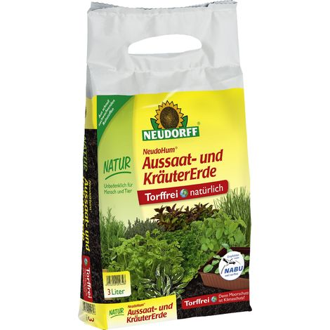 NEUDORFF® NeudoHum® Aussaat- und KräuterErde 3 Liter torffrei