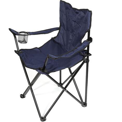 """main image of """"Neuf Chaise Pliant Fauteuil Simplement Pratique pour pêche plage Camping jardin - Navy - Bleu marin"""""""