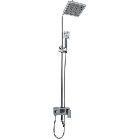 NEUF Colonne de Douche,Ecran LCD Digital Température,Hauteur Réglable Thermostat - Argent