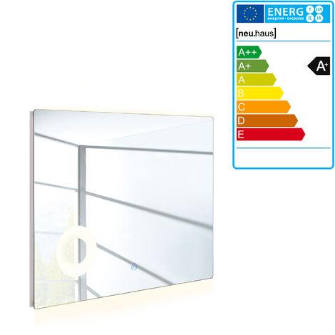 Espejo de baño con luz LED - espejo para la pared (600 x 1200mm)