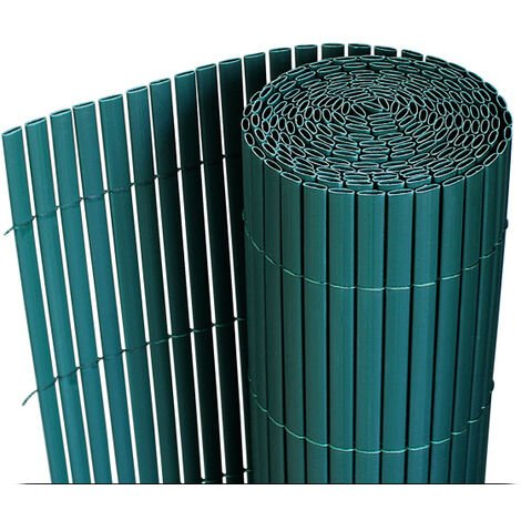 [neu.haus] Estera de PVC (150x300cm) (verde) protector contra el viento - pantalla de privacidad, para jardín, balcón y terraza