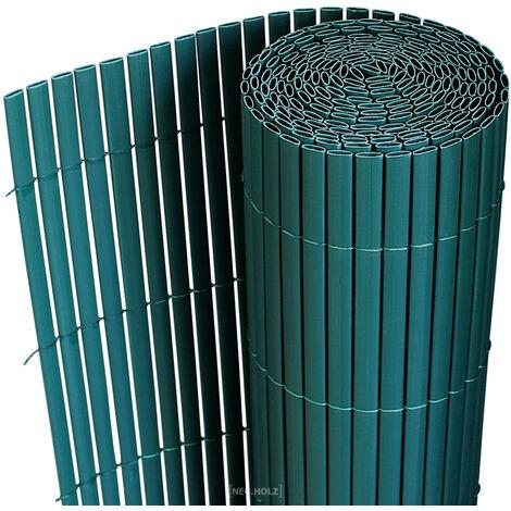 [neu.haus] Estera de PVC (200x300cm) (marrón) protector contra el viento - pantalla de privacidad, para jardín, balcón y terraza