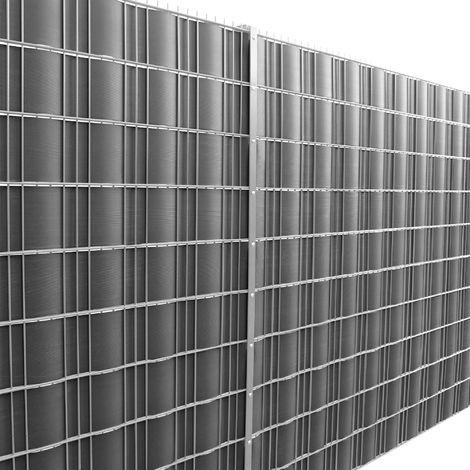 [neu.haus] Rollo de aislamiento (negro)(35m) para vallas y dems superficies - Lmina de ocultacin protege contra el viento