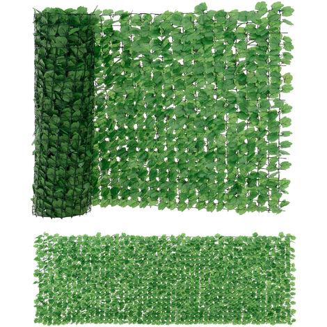 [neu.haus] Valla de hojas artificiales (100 x 300 cm) PVC Protector visual y contra el viento