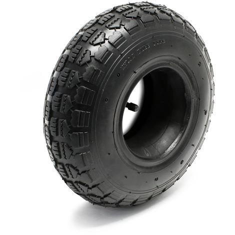 Neumático 11x4.00-4 4pr con cámara de aire y válvula angular, repuesto para tractores de jardín