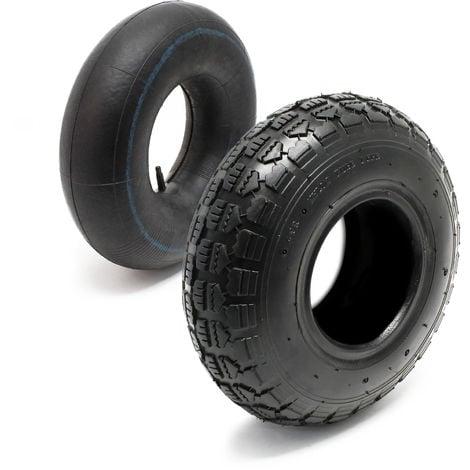 Neumático 11x4.00-4 4pr con cámara de aire y válvula recta, repuesto para tractores de jardín
