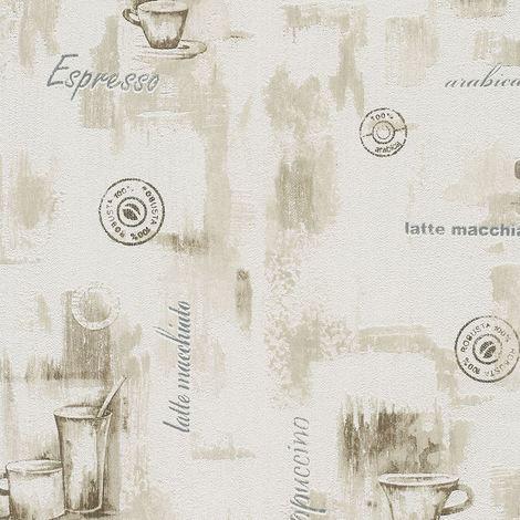 Wallpaper For Kitchen | Neutral Coffee Wallpaper Kitchen Cappuccino Luxury Heavyweight