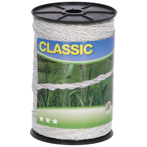 Neutral Electric Fence Polywire Classic 500m White - White