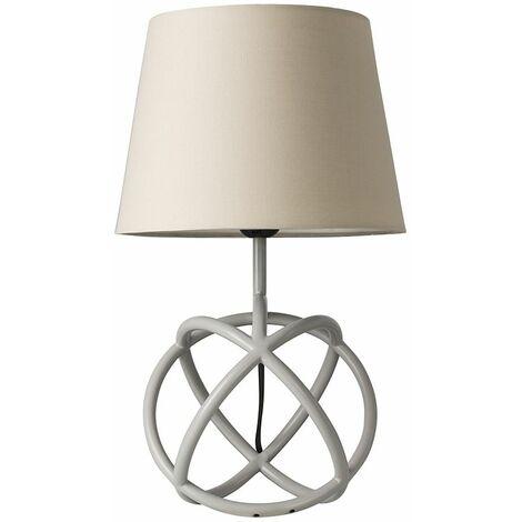Neutron Grey Geometric Table Lamp