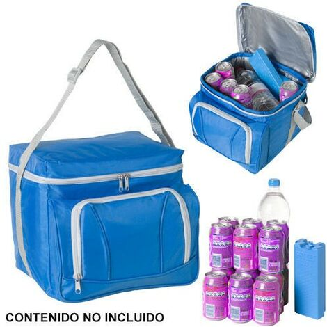 Nevera bolsa termica 28 litros azul