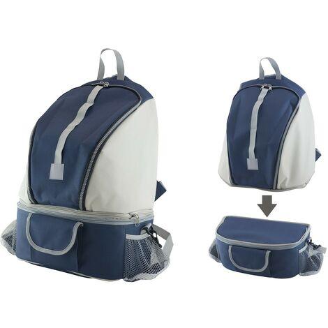 Nevera bolsa termica 28 litros azul mochila con riñonera