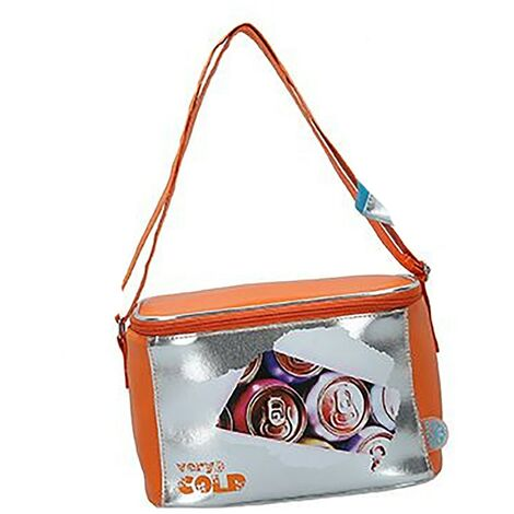 Nevera Portátil Playa, Bolsa Isotérmica. Cierre Cremallera 5 litros Very cold 24x15x16 cm Naranja