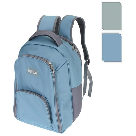 Nevera tipo mochila con 3 compartimentos 12l 40x30x10cm colores surtidos
