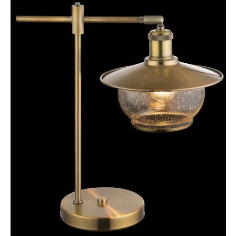 Lampada Da Scrivania In Ottone.Nevis Lampada Da Tavolo Ottone Bronzo Vetro Vintage Retro Globo 69030t