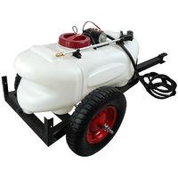 NEW 60L ATV Weed Sprayer 1.5M Boom Trailer Spot BOOM Spray Tanks Garden Farm