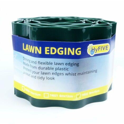 New 9M X 10cm Roll Green Garden Lawn Border Edge Edging