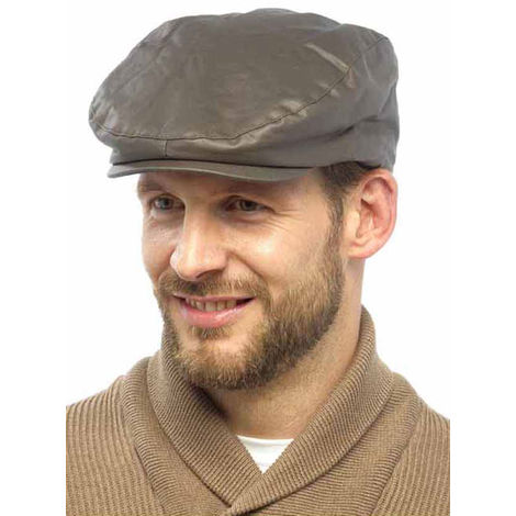 New Adults Unisex Mens Ladies Waxed Country Style Flat Cap Hat Fully Lined