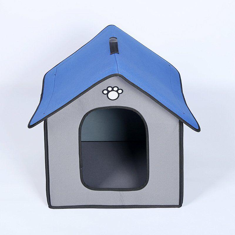 New antipluie exterieur et maison animaux en plein air chien impermeable chenil chat chenil pour animaux fabricants de fournitures, petit gris plein