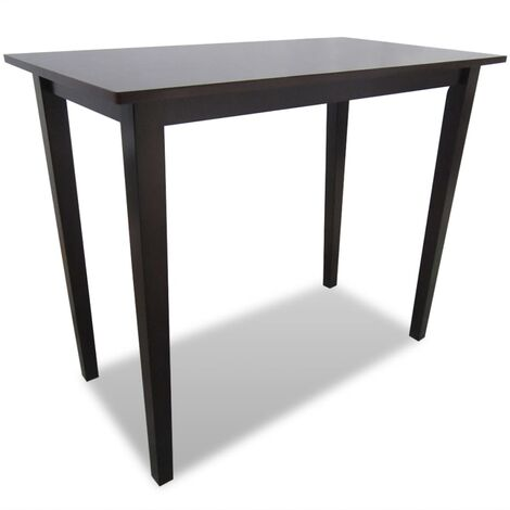 New Bar Table Wood Console Side Dining Kitchen Table White / Brown Selectable