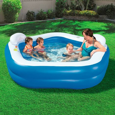 """main image of """"NEW BESTWAY FAMILY FUN LOUNGE POOL INFLATABLE OUTDOOR GARDEN SUMMER PADDLING"""""""