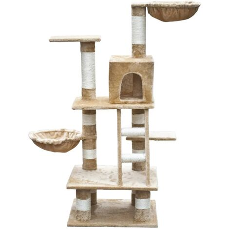 New Cat Tree Cat Scratching Post Cat Toy Bed Furniture 122 cm Plush 5 Colours