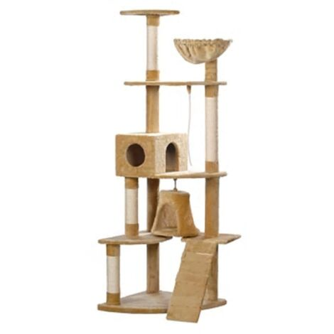 New Cat Tree Cat Scratching Post Cat Toy Bed Furniture 191 cm Plush 5 Colours