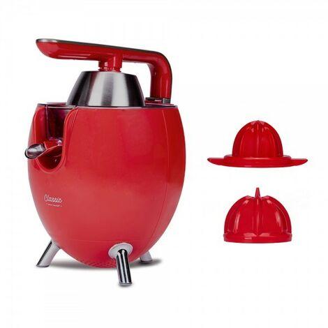 NEW CHEF-Exprimidor Zumo Eléctrico Juicer Classic Rojo para Naranjas y Cítricos,300W con Doble Cono, Sist. Antigoteo.