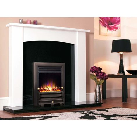 "New Designer Celsi Fire - Electriflame XD Hearth Mounted Electric Fire 16"" Daisy Black"