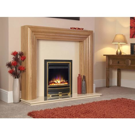 "New Designer Celsi Fire - Hearth Mounted Electric Fire 16"" Electriflame XD Arcadia Gold"