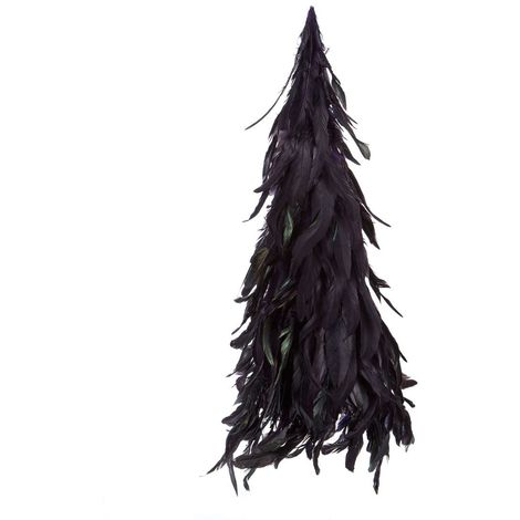 New feather tree, dark purple